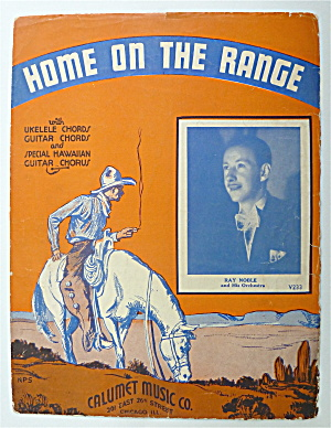 Sheet Music For 1935 Home On The Range