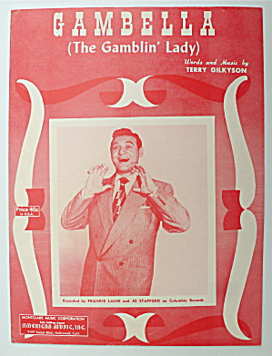 Sheet Music For 1951 Gambella (The Gamblin Lady)