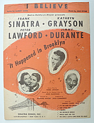 Sheet Music For 1947 I Believe