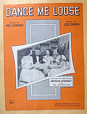 Sheet Music For 1951 Dance Me Loose