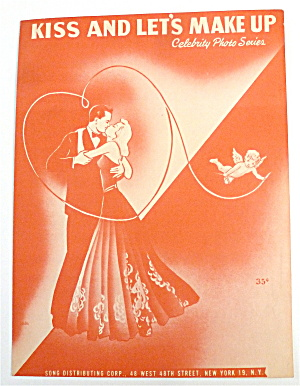 Sheet Music For 1949 Kiss And Let's Make Up