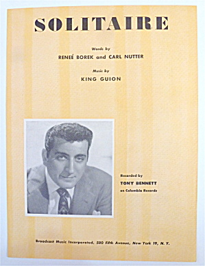 Sheet Music For 1951 Solitaire (Tony Bennett Cover)