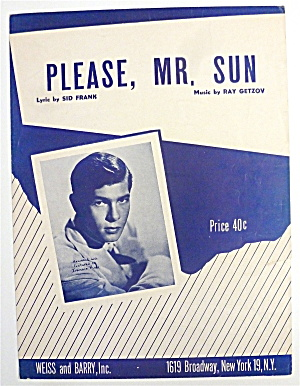 Sheet Music For 1951 Please, Mr. Sun