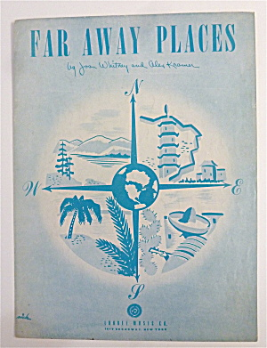 Sheet Music For 1948 Far Away Places