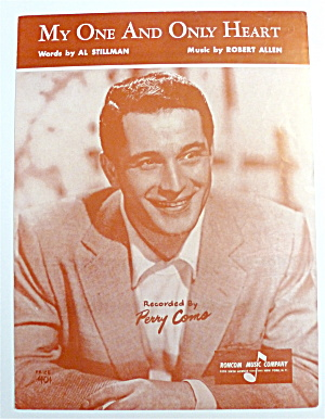 Sheet Music For 1953 My One & Only Heart