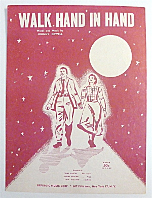 Sheet Music For 1956 Walk Hand In Hand