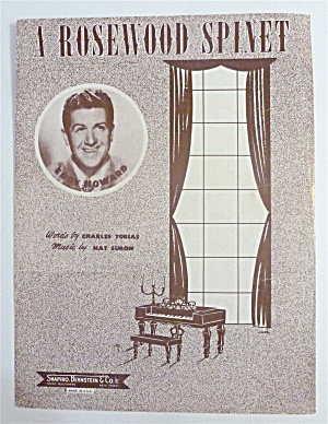 Sheet Music For 1948 A Rosewood Spinet