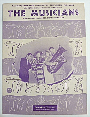 Sheet Music For 1951 The Musicians