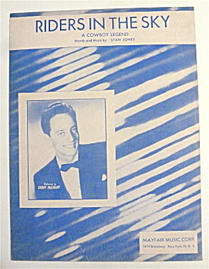 Sheet Music For 1949 Riders In The Sky