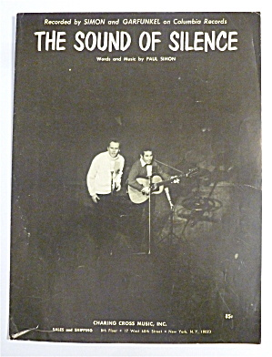 Sheet Music For 1965 The Sound Of Silence