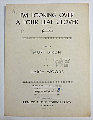 Sheet Music For 1927 I'm Looking Over A 4 Leaf Clover