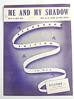 Sheet Music For 1927 Me & My Shadow