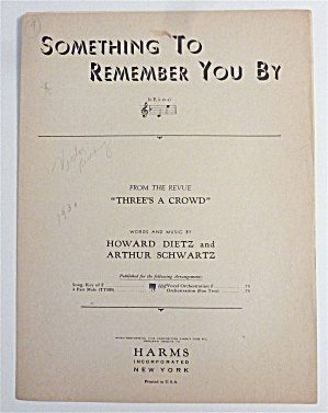 Sheet Music For 1930 Something To Remember You By (Image1)