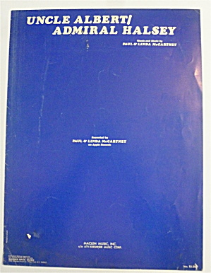 Sheet Music For 1971 Uncle Albert/admiral Halsey