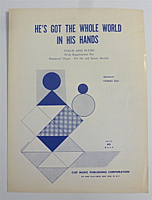 Sheet Music 1958 He's Got The Whole World In His Hands