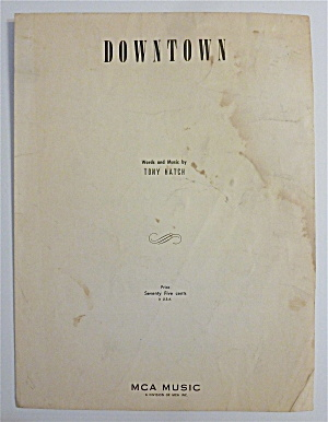 Sheet Music For 1964 Downtown
