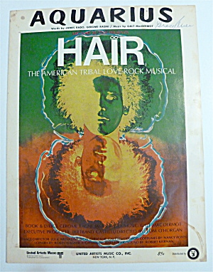 Sheet Music For 1968 Aquarius