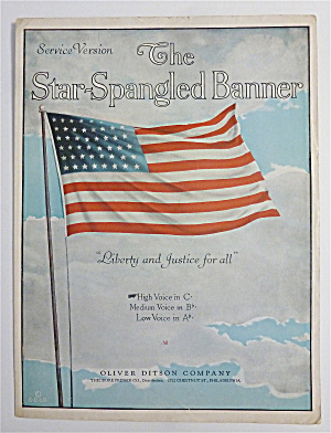 Sheet Music For 1910's Star Spangled Banner