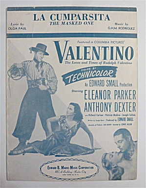 Sheet Music For 1937 La Cumparsita (The Masked One)