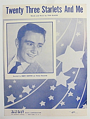 Sheet Music For 1951 Twenty Three Starlets And Me