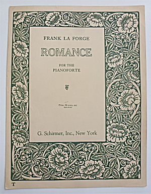 Sheet Music For 1911 Romance