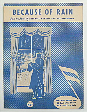 Sheet Music For 1951 Because Of Rain
