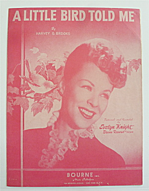 Sheet Music For 1948 A Little Bird Told Me
