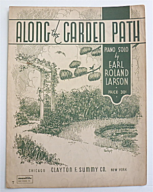 Sheet Music For 1939 Along The Garden Path