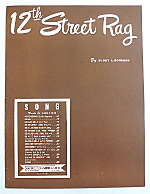 Sheet Music For 1942 12th Street Rag