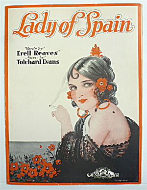 Sheet Music 1944 Lady Of Spain