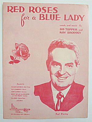 Sheet Music For 1948 Red Roses For A Blue Lady