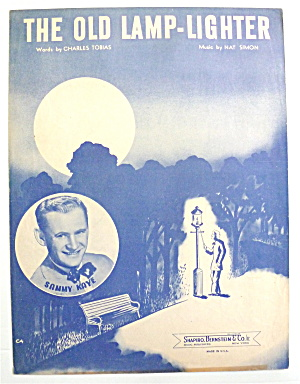 Sheet Music For 1946 The Old Lamp-lighter