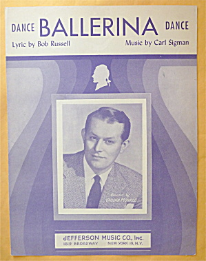 Sheet Music For 1947 Dance Ballerina Dance