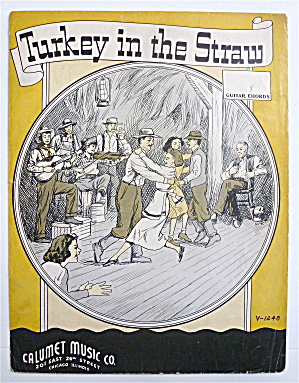 Sheet Music For 1941 Turkey In The Straw