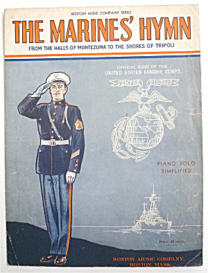 Sheet Music For 1942 The Marines' Hymn