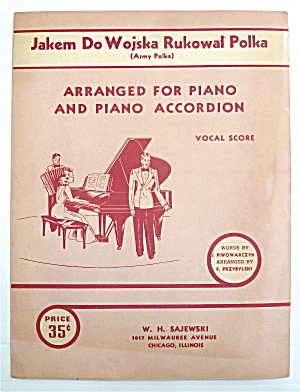 Sheet Music For 1941 Jakem Do Wojska Rukowal Polka