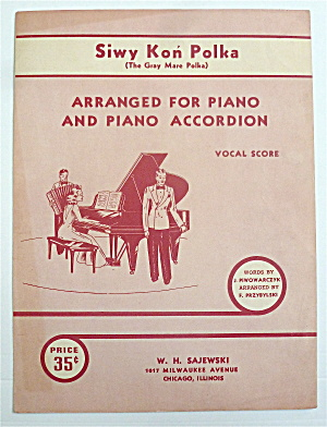 Sheet Music For 1941 Siwy Kon Polka