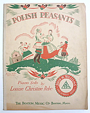 Sheet Music For 1931 Polish Peasants