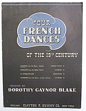 Sheet Music For 1939 Four French Dances