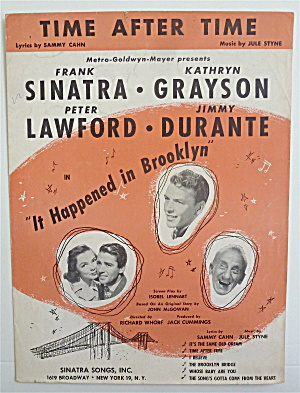 Sheet Music For 1947 Time After Time