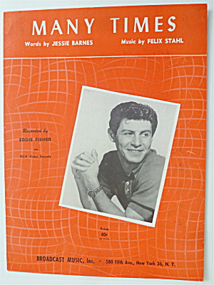 Sheet Music For 1953 Many Times