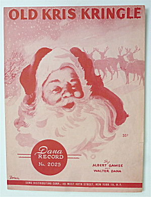 Sheet Music For 1949 Old Kris Kringle