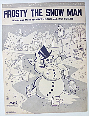 Sheet Music 1950 Frosty The Snow Man