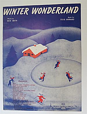 Sheet Music For 1934 Winter Wonderland  (Image1)
