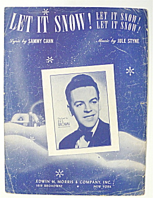 Sheet Music For 1945 Let It Snow Let It Snow