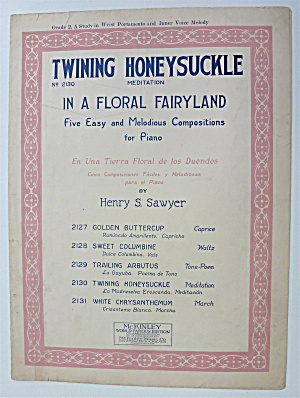Sheet Music For 1925 Twining Honeysuckle