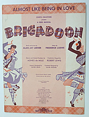 Sheet Music For 1947 Almost Like Being In Love