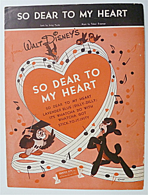 Sheet Music For 1948 So Dear To My Heart