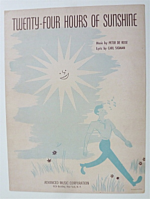 Sheet Music For 1949 Twenty Four Hours Of Sunshine