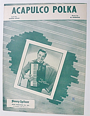 Sheet Music For 1950 Acapulco Polka